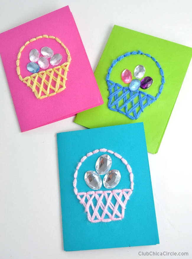 Easter Basket Jeweled Easter Egg craft idea @chicacircle