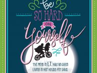 Don't Be Hard On Yourself Hand Lettered Quote Free printable