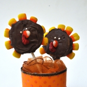 Turkey Cookie Pops DIY