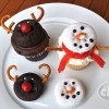 Snowman and Reindeer Cupcake Treats