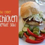 One Pot Slow Cooker BBQ Chicken and Homemade Greek Yogurt Slaw