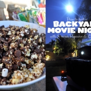 Backyard Family Movie Night with S'mores Popcorn and Capri Sun