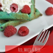 Red, White & Blue Cookie Waffle Dessert
