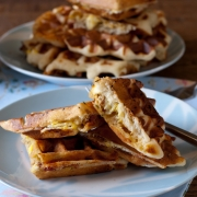 Yummy Bacon and Egg Stuffed Waffles