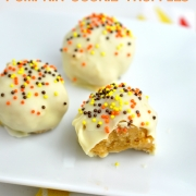 3-Ingredient No-Bake Pumpkin Cookie Truffles