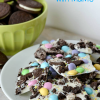 Oreo Bark with M&M's