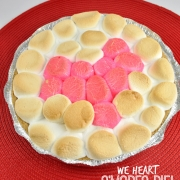 Oven-Baked S'mores Pie with Heart