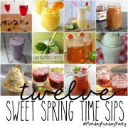 12 Sweet Springtime Drink Recipe Ideas + MONDAY FUNDAY Link Party