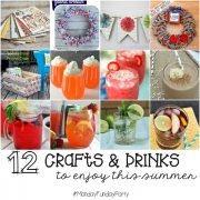 12 Summer Craft & Drink Ideas #MondayFundayParty