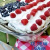 Patriotic Ice Cream Lasagna