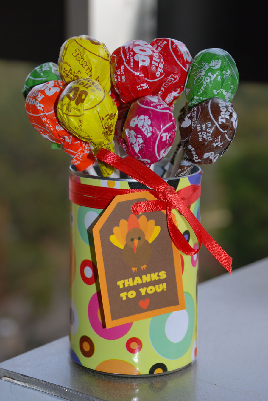 Project Thank You: Tootsie Pop Bouquets