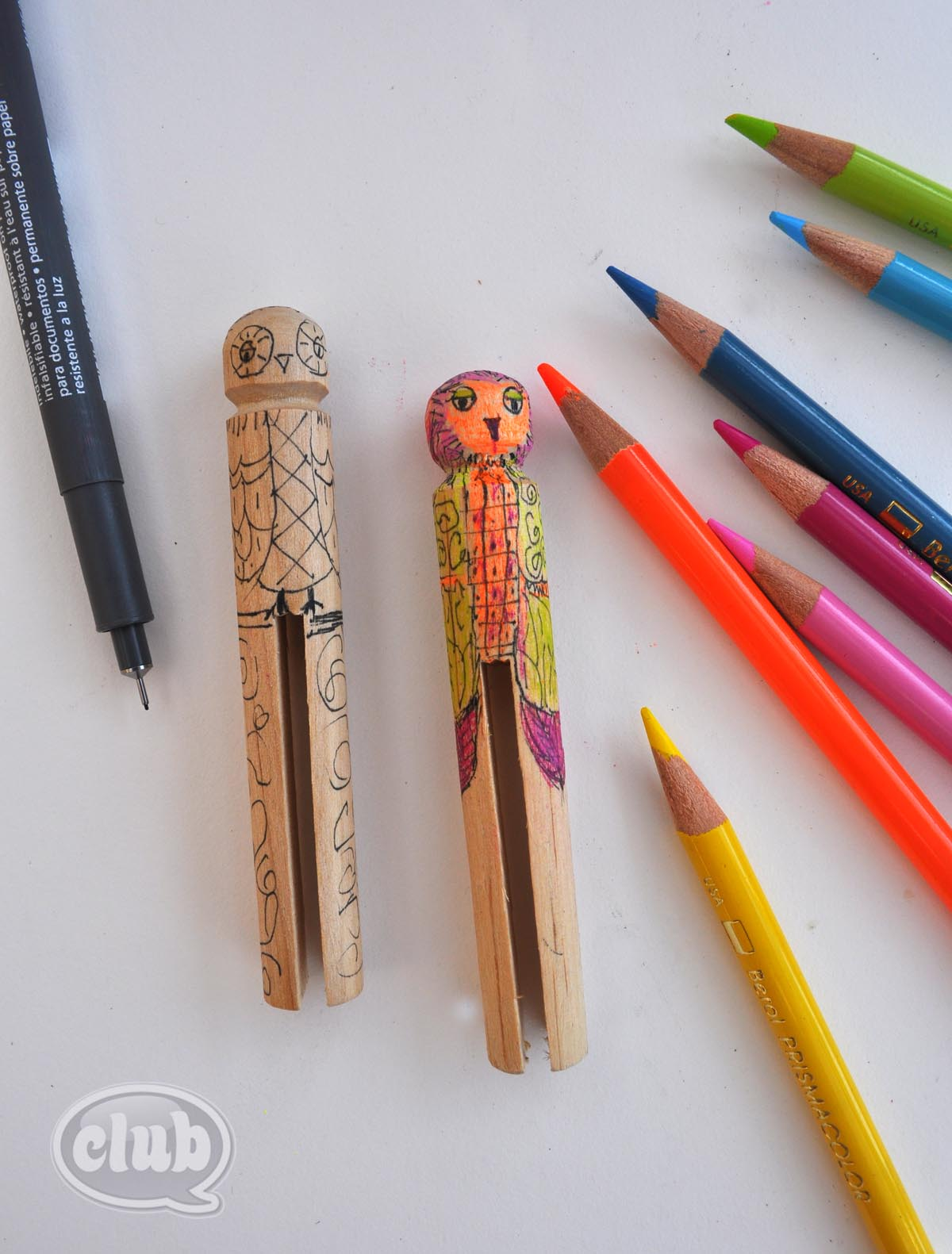 Cute Wood Craft Picture Clothespin