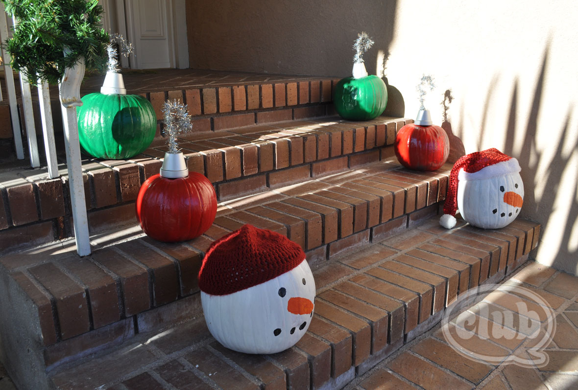 happy holiday crafting - Decorating Pumpkins For Christmas Ideas