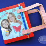 Friends paper bag scrapbook