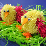 homemade pom pom chicks