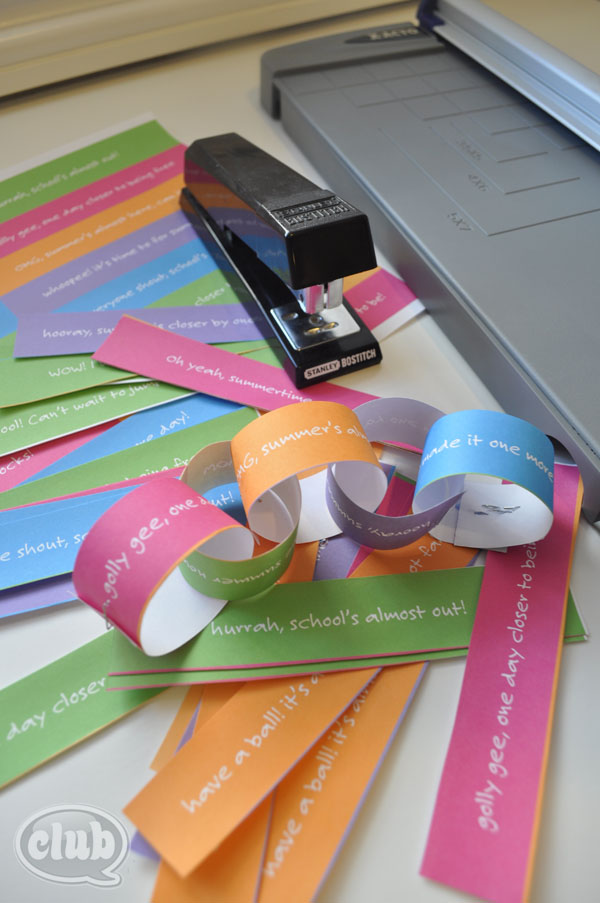 picture relating to Have a Ball This Summer Free Printable identify Countdown in direction of Summertime Paper Chain Craft and Absolutely free Printable