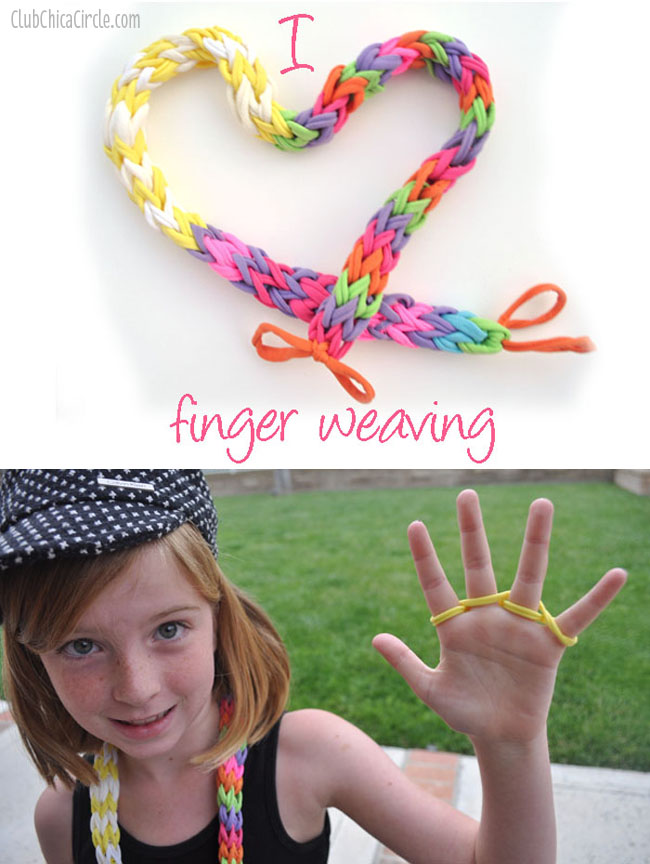 Finger weaving fun with kids