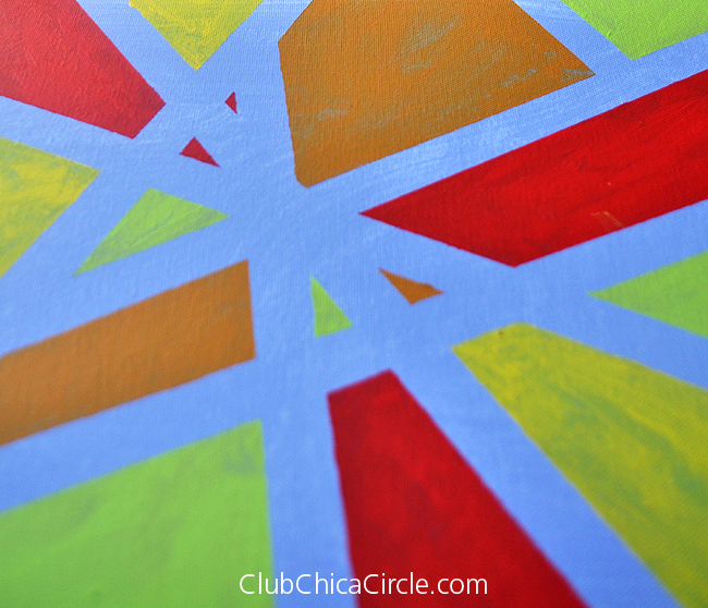 Easy Modern Art With Painters Tape For Kids