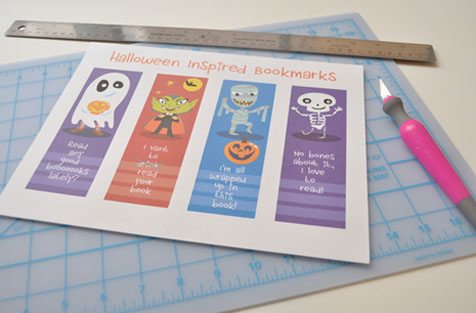Halloween bookmarks free printable prep