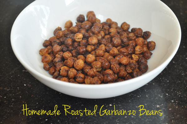 Homemade Roasted Garbanzo Bean snack