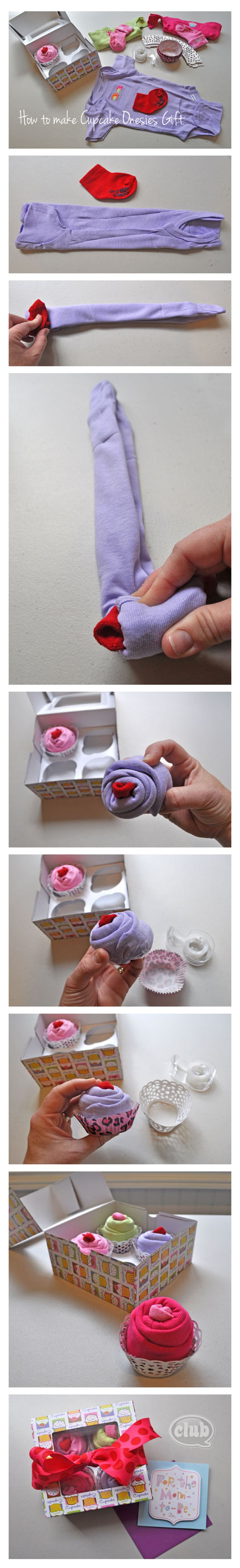 Cupcake onesies gift idea fold solutioingenieria Images