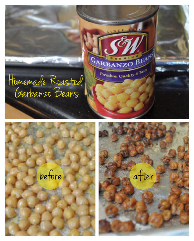roasted garbanzo beans snack before after