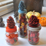 Fall Pinecone treat jars feature