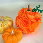 Paper Flower Pumpkin Craft Kit feature