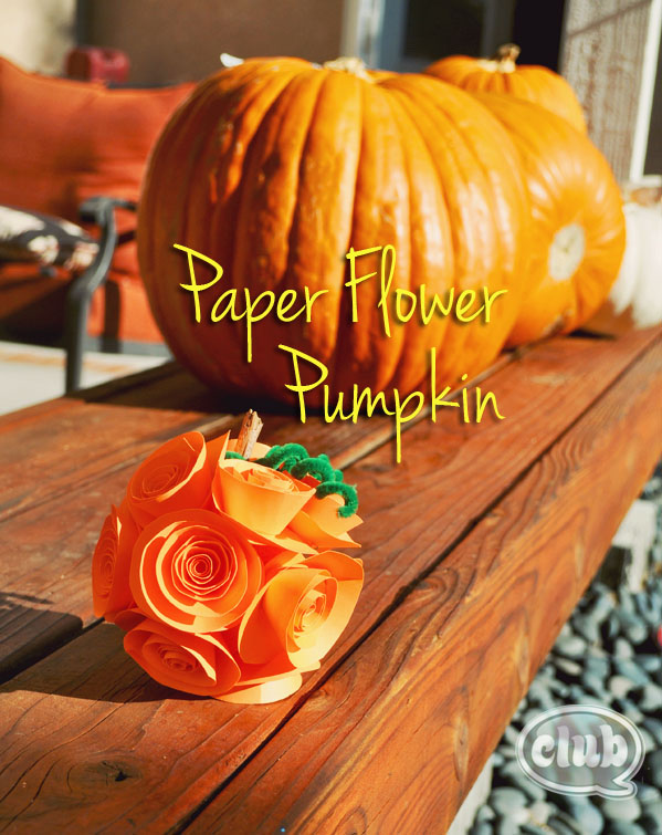 Fall Craft Ideas Paper Flower Pumpkin
