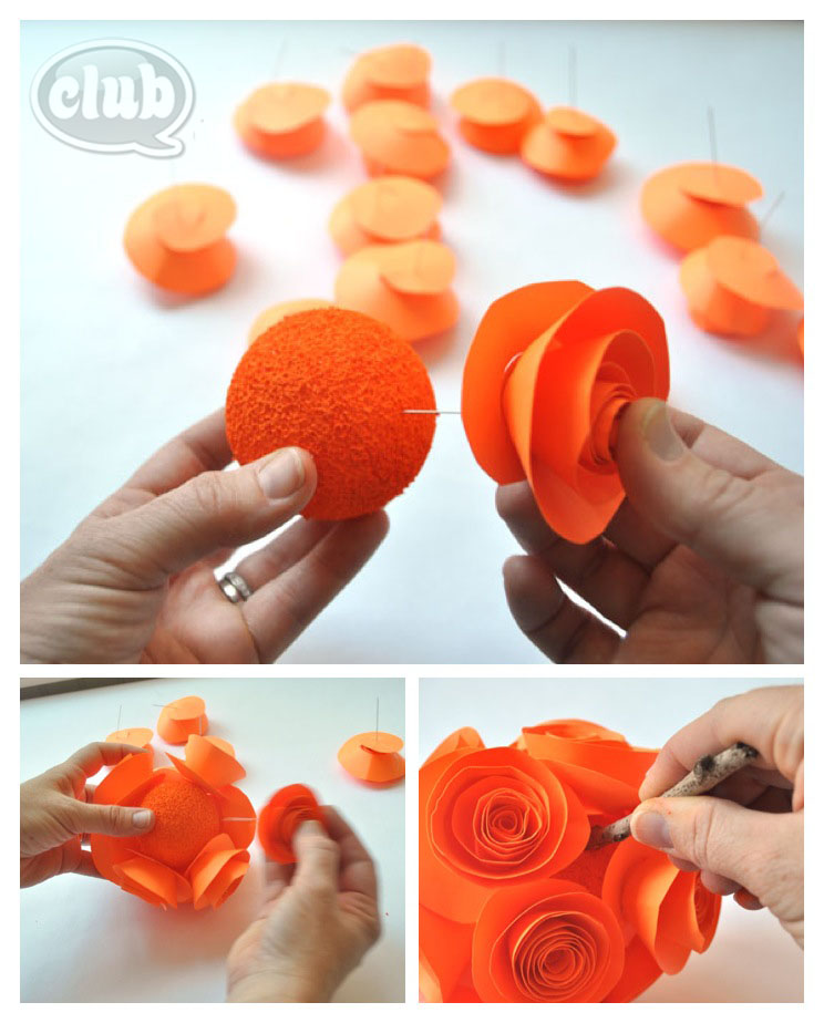 Paper Flower Pumpkin Craft Diy And Craft Kit