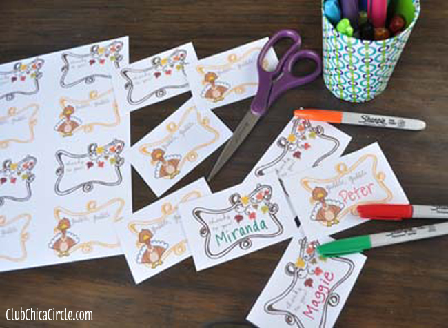 Thanksgiving placecard printable tutorial @clubchicacircle