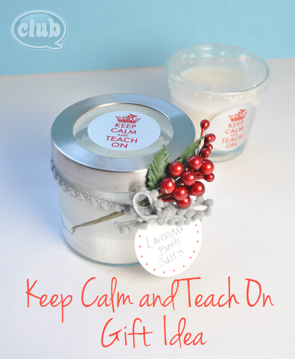 Keep calm and teach on gift idea