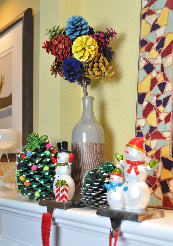 Make Holiday Festive Pine Cone Trees Club Chica Circle