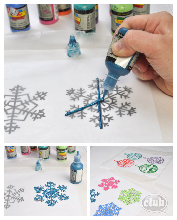 puffy paint craft ideas paint window decorations 5297
