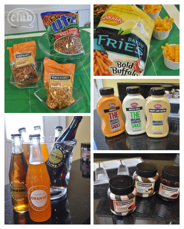 Cost Plus World Market Football party snack ideas