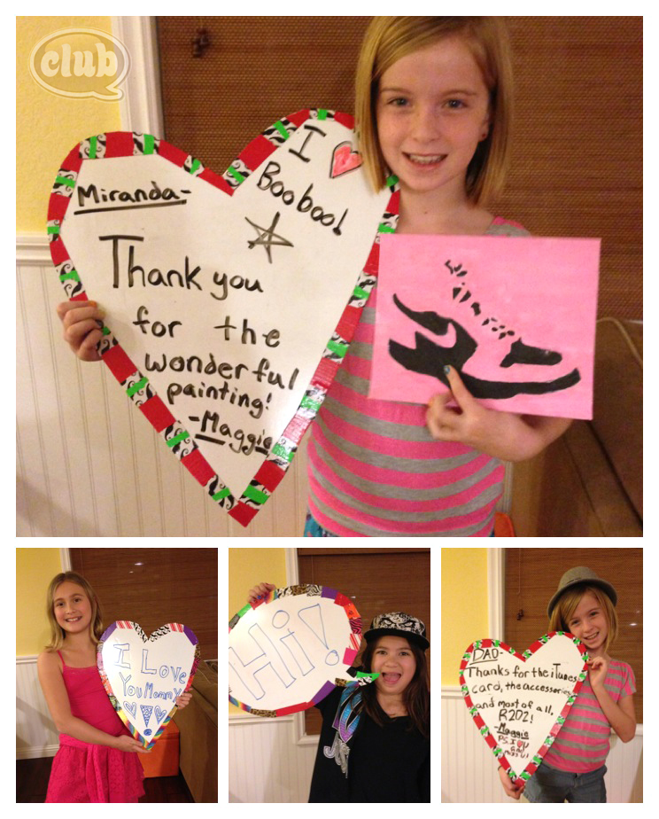 Dry Erase Thank You Boards Collage @clubchicacircle