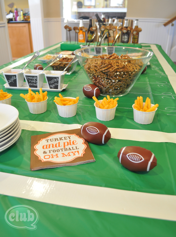 Football party table decor ideas cost plus market