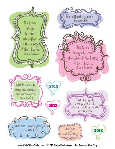 New Journal Sticker 2013 Printable