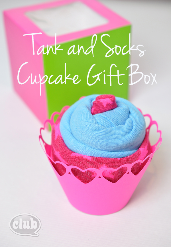 Tank and Socks Cupcake Gift Box Idea for Tweens
