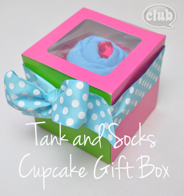 Tween Tank and Socks Cupcake Gift Box Idea