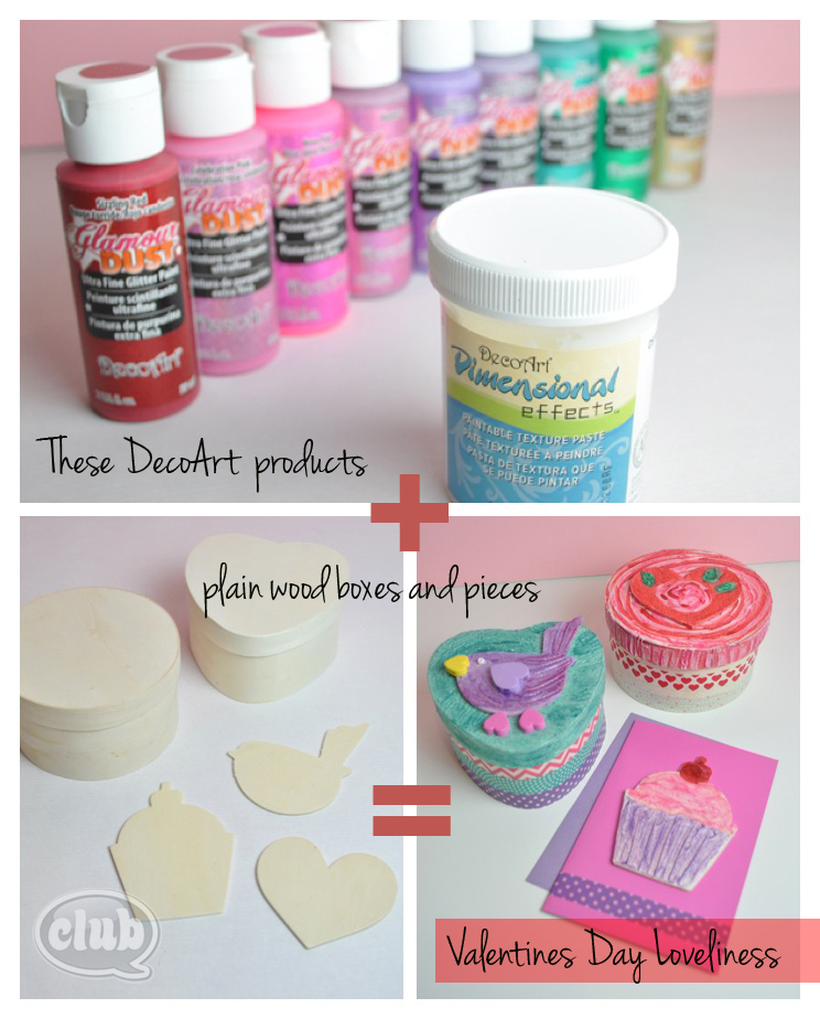 Valentines Day Gift Box Craft Idea With DecoArt Paints