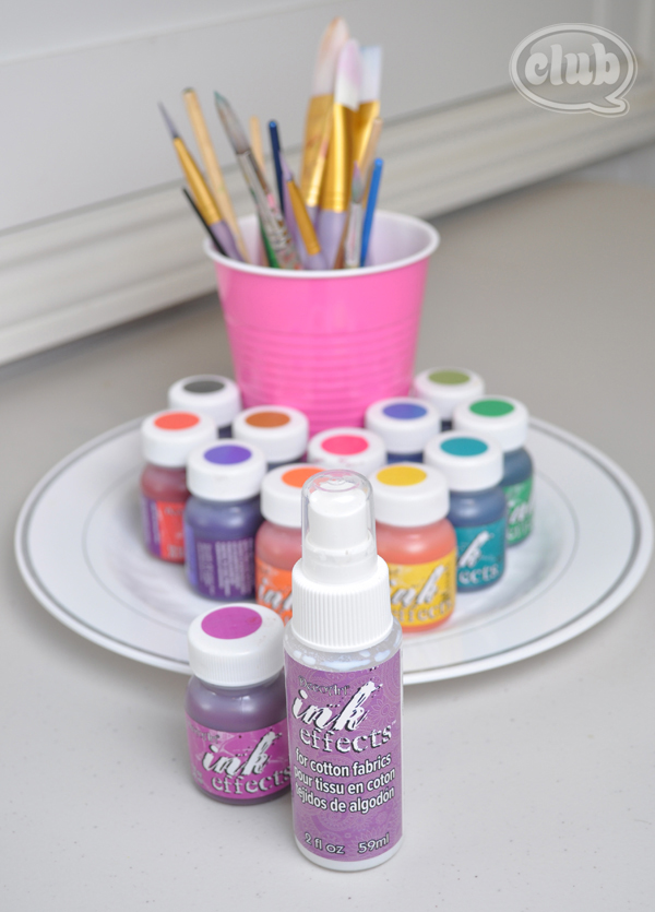 DecoArts Ink Effects paint for slumber party craft idea