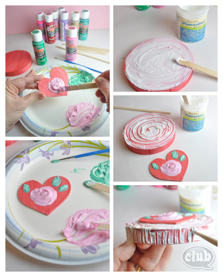 Heart Valentines Day Box Craft Steps