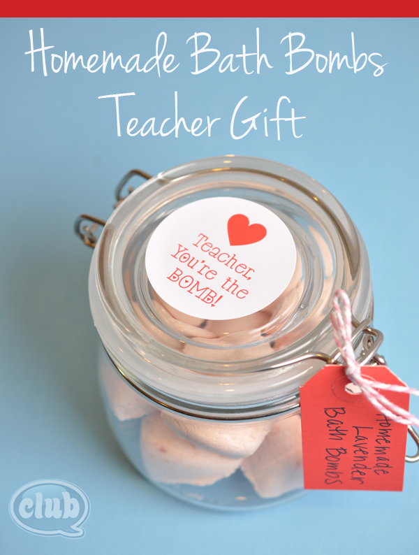 Homemade Bath Bomb teacher gift idea