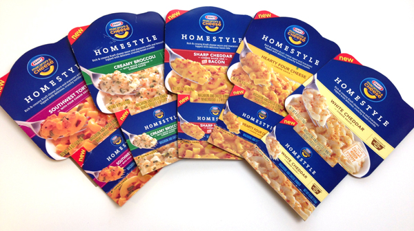 Kraft homestyle macaroni and cheese bowl flavors