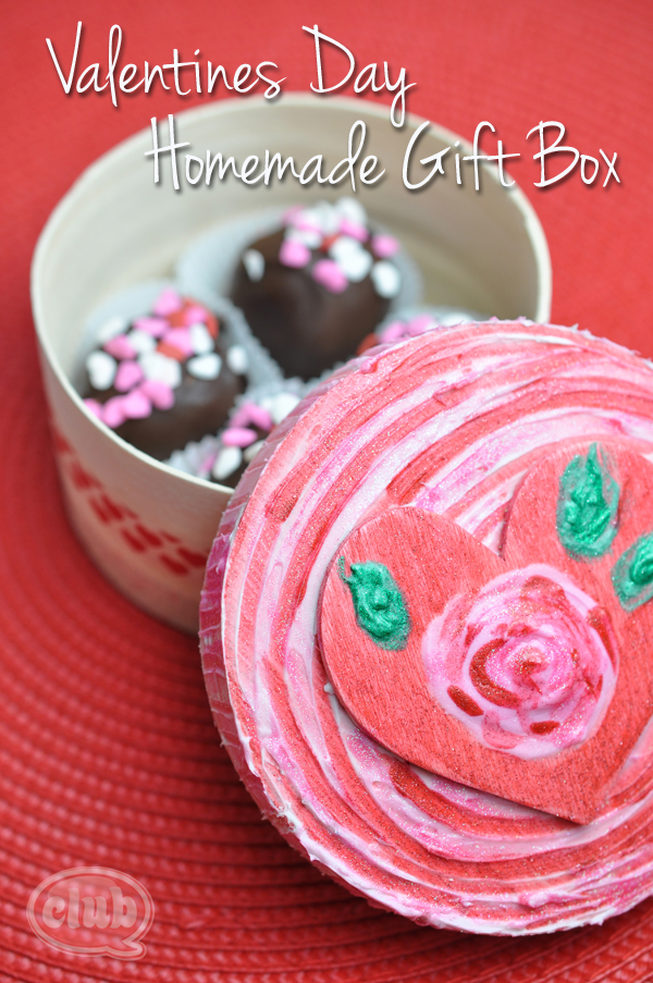 Valentines Day Rose Heart Treat Box craft