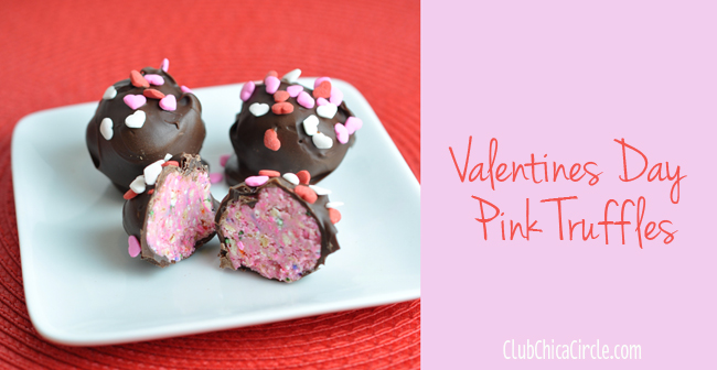 Valentines Day homemade pink truffles