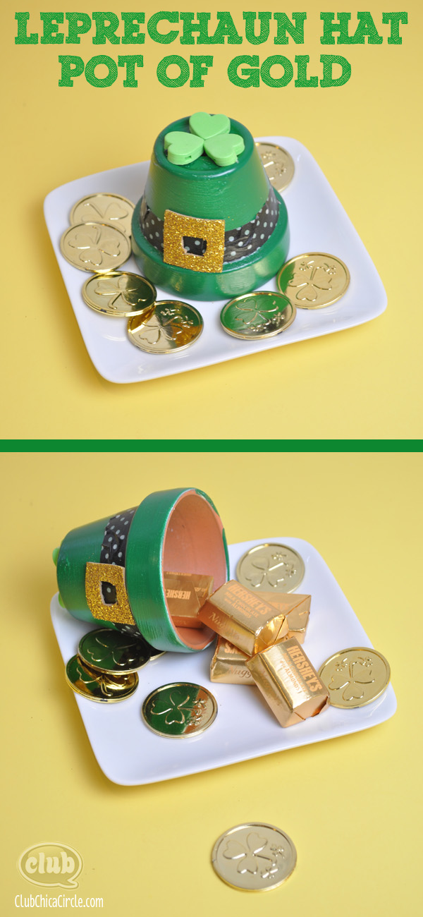 Leprechaun Hat Pot of Gold easy craft idea 2