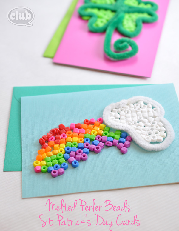Melted Beads St. Patrick's Day Cards