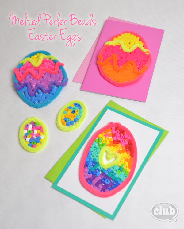 Melted Perler Beads Easter Eggs Craft